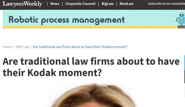 Are traditional law firms about to have their Kodak moment