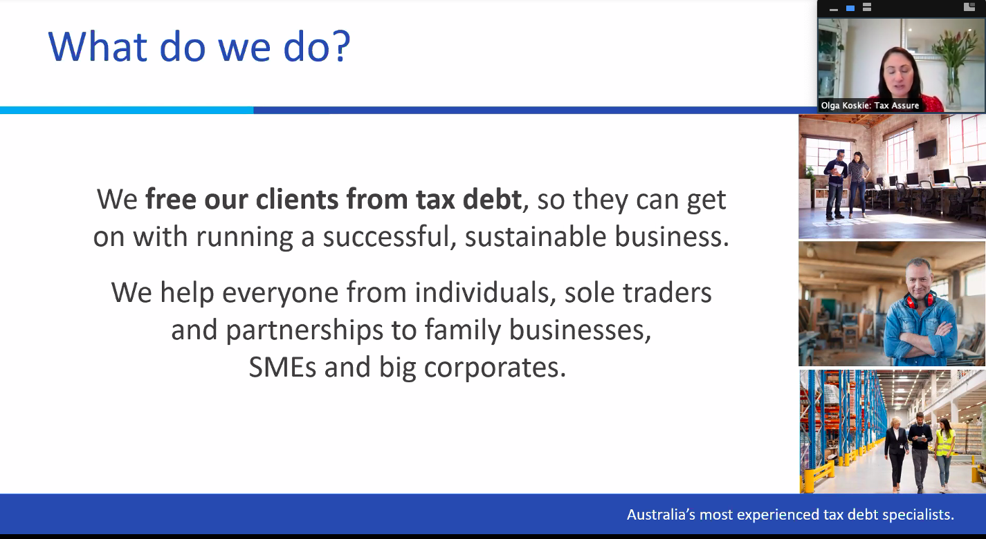 Legally Yours and Silicon Beach Group present 'RoadMap to Restart' with Olga Koskie from Tax Assure Pty Ltd