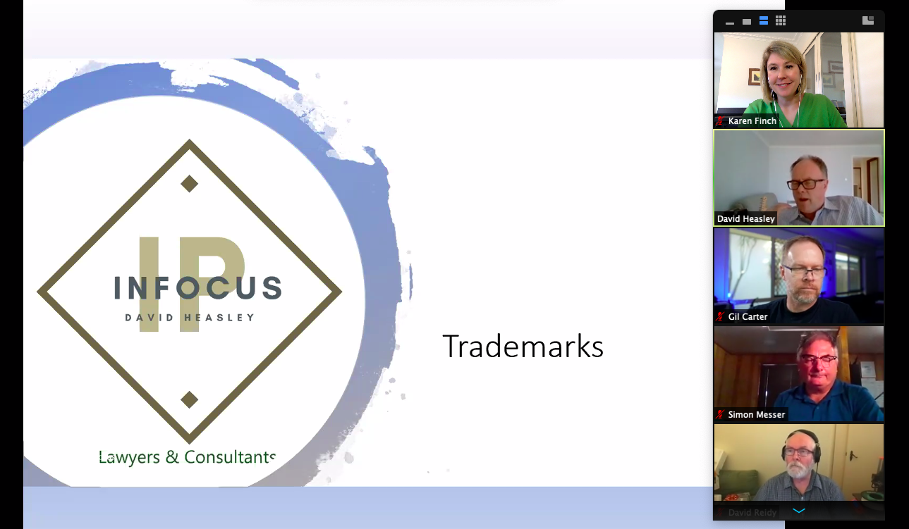 Legally Yours and Silicon Beach Group present 'Trademarks 101' with David Heasley from IP Infocus