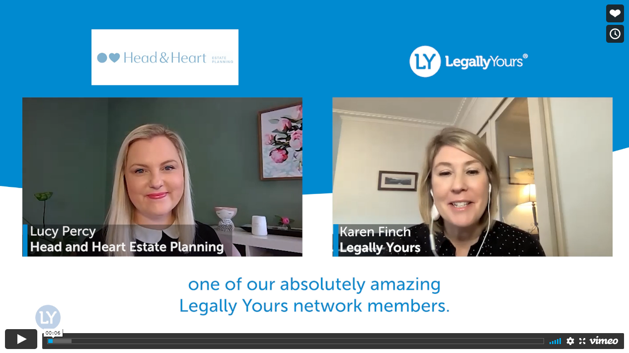 Legally Yours & Lucy Percy from Head and Heart Estate Planning
