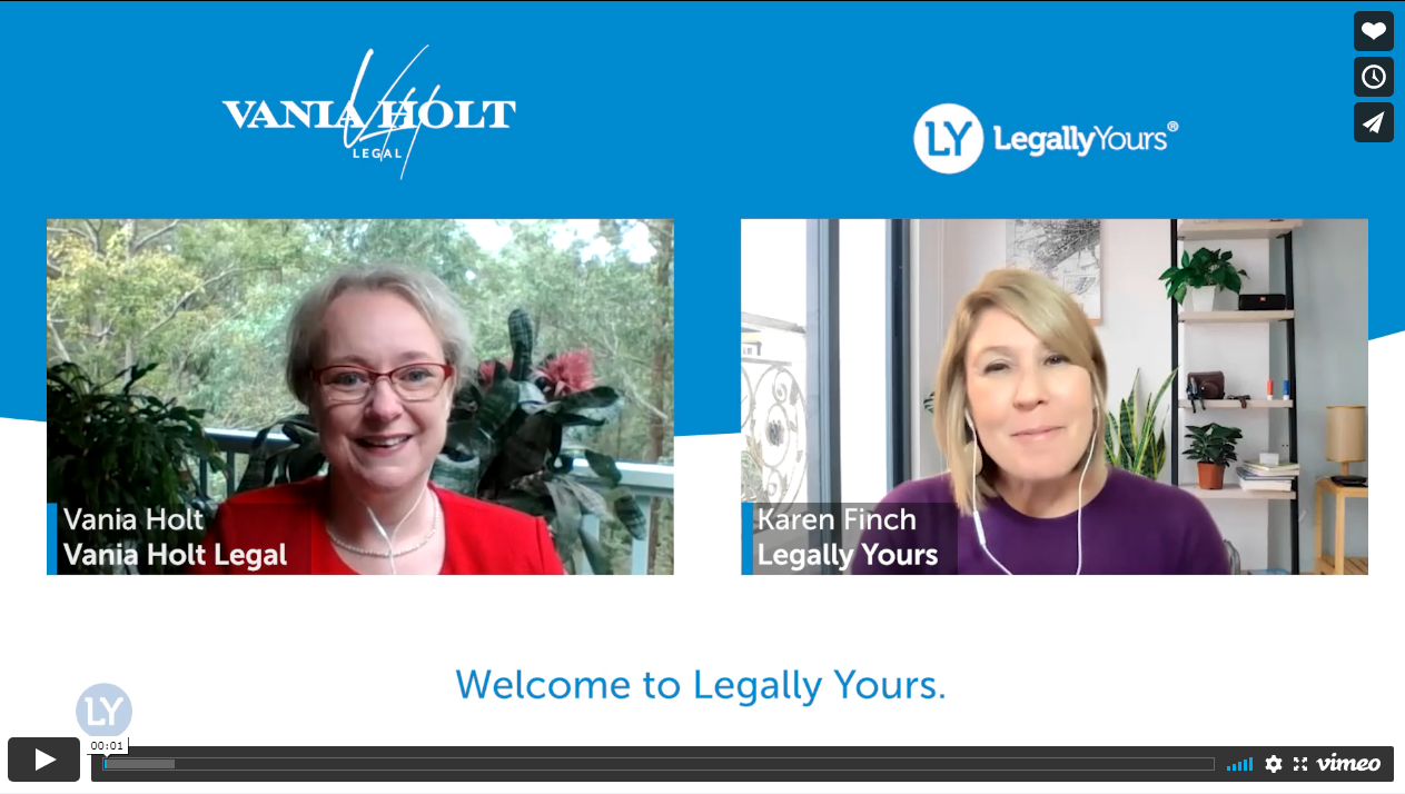 Legally Yours & Vania Holt from Vania Holt Legal