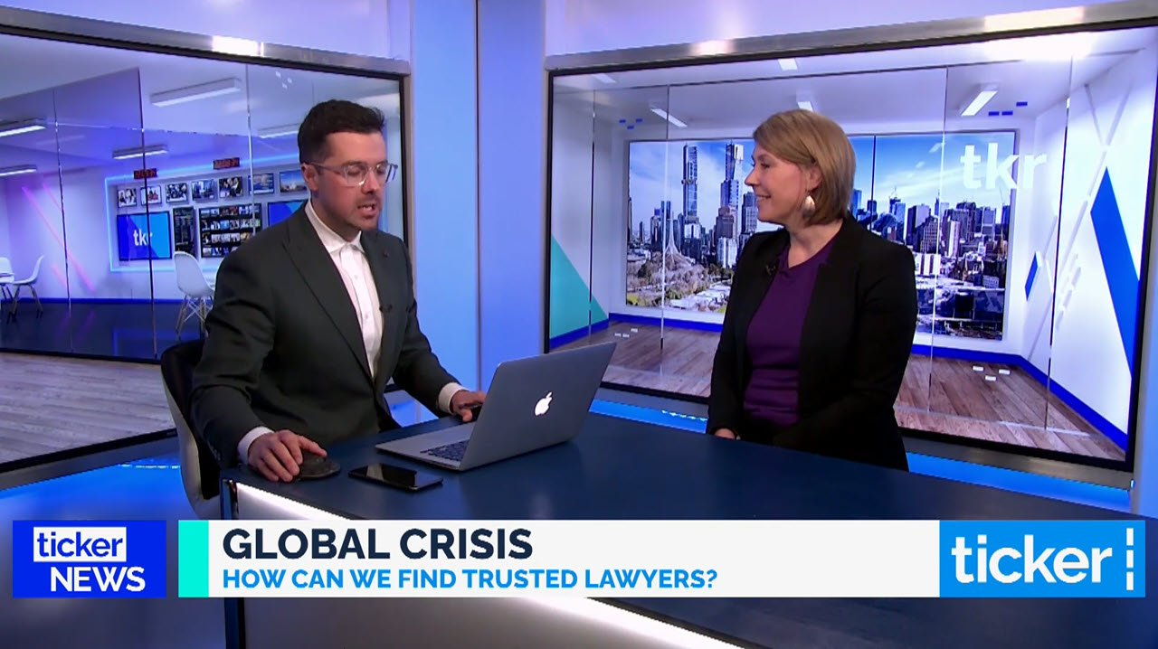 Legally Yours in the Press – Karen Finch Ticker News Interview 12pm – 25 June 2021