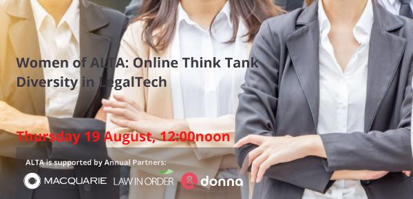 Women of ALTA: Online Think Tank Diversity in LegalTech
