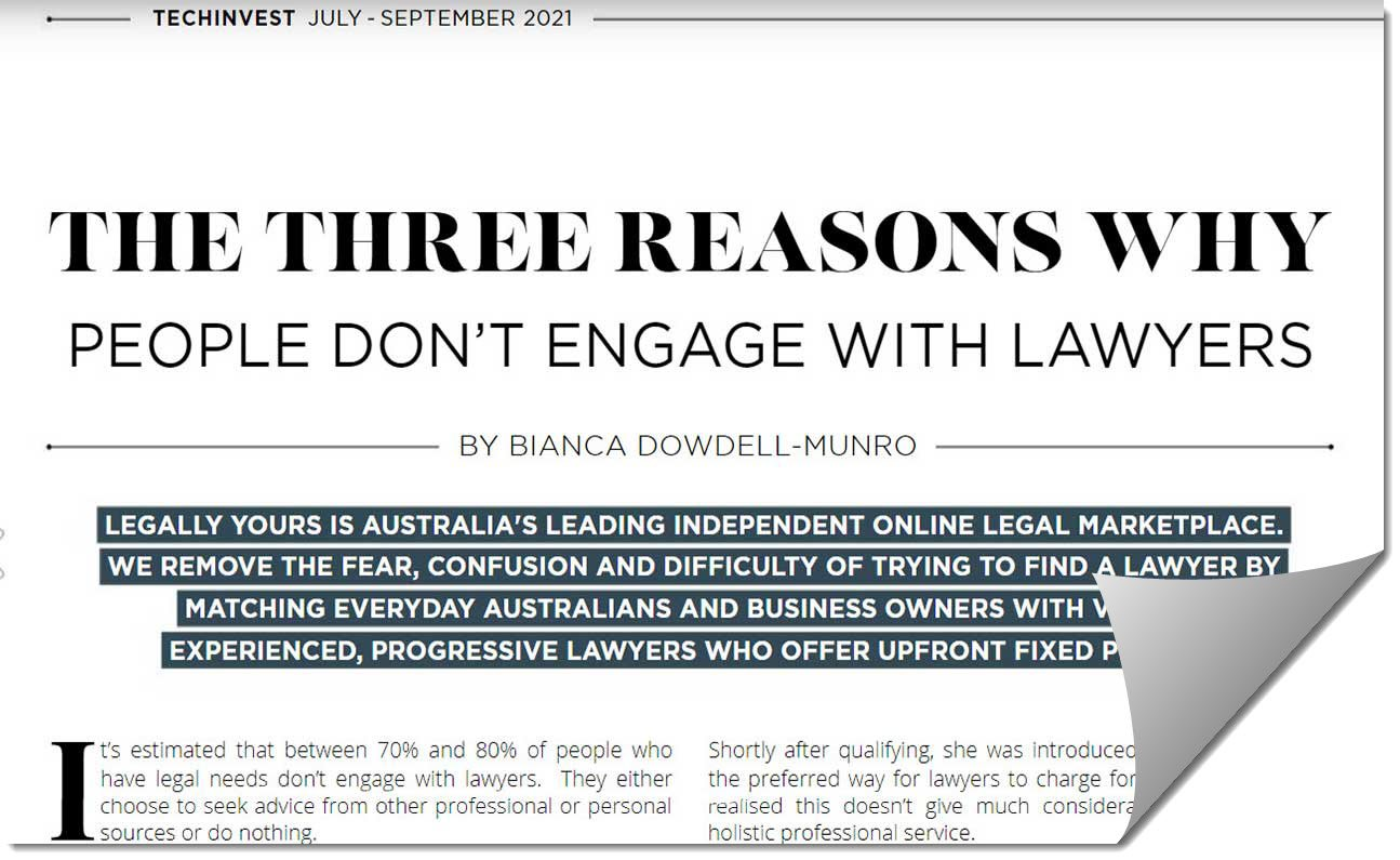 The Three Reasons Why People Don't Engage with Lawyers