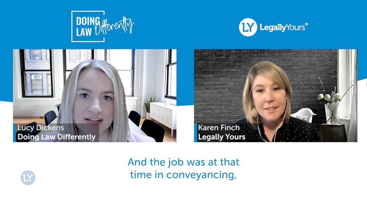 Legally Yours and Lucy Dickens 'Doing Law Differently' – The Story and the Mission